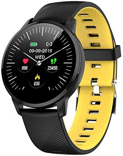 Smart Watch Mujeres Correr Pulsómetro Bluetooth Podómetro Touch Inteligente Deportes Smartwatch para Mujeres Hombres -F.