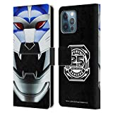 Head Case Designs Officially Licensed Power Rangers Lunar Wolf Wild Force Famous Helmet Leather Book Wallet Case Cover Compatible with Apple iPhone 12 Pro Max