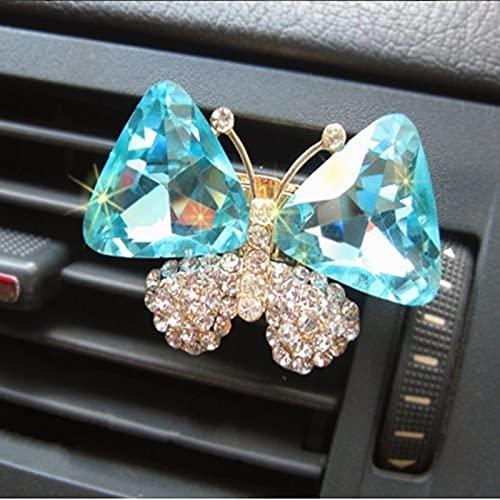 Thinkway Crystal Butterfly Parfum Voiture Outlet perfumes ambientadores aromatizantes espíritu sólido perfume Carro decoración del hogar y regalo - Color: azul claro