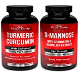 Turmeric Curcumin with BioPerine & D-Mannose Capsules Bundle