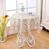 TRE kleiner runder Tischtuch/Tischdecke decke/Saubere Wohnzimmer Beistelltisch Tuch/ Karierten Tischdecke-N 130x180cm(51x71inch)