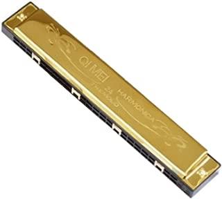 C Harmonica 24 Hole Harmonica Golden Color coverplate Key of C Black