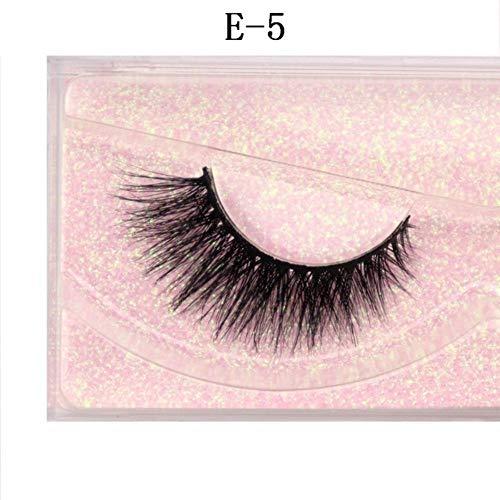 EDK Cils cruauté à la Main Cils 3D Pleine Bande Faux Faux Cils Maquillage Cils, E-5