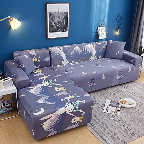 Allenger Forro de Sofá Doméstico,Fundas de sofá elásticas seccionales para sofá en Forma de L, diseño de Funda para sillón de Esquina, 15_140-185cm