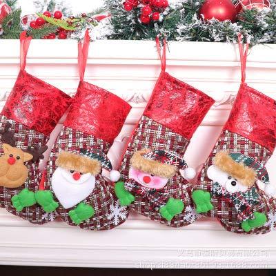 BAIBEI 4 Piezas de Calcetines navideños Papá Noel Navidad muñeco de Nieve Calcetines 3D Felpa Figuras navideñas Gemelos Calcetines Decoraciones Decoraciones para Fiestas navideñas