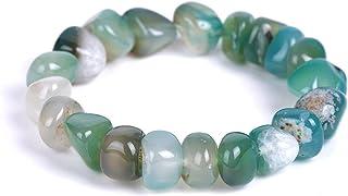 Handmade Natural Colorful Irregular Stone Crystal Beads Gemstone Adjustable Stretch Rope Bangle Bracelet Friendship Couple...