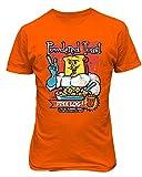 Powdered Toast Crunch with Free Log Ren Stimpy Men's T-Shirt,Orange,Small