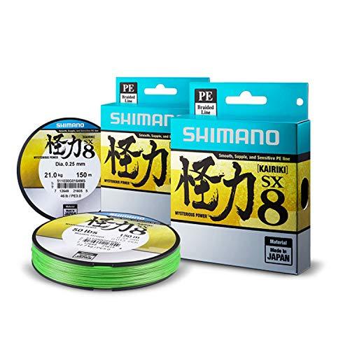 Shimano Kairiki Línea Trenzada SX8 Green 300m 0,20 mm