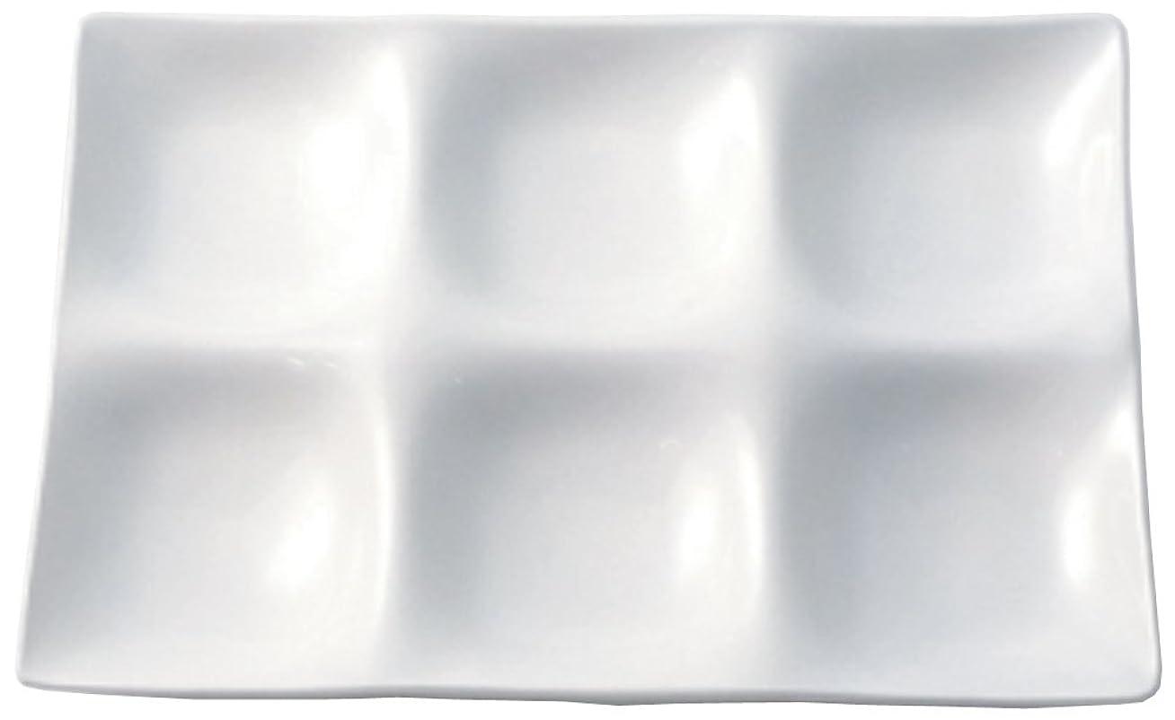 継承代替サンダースパーティープレート シックスプレート 255×170×24mm ホワイト ZA-408691