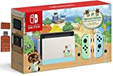 """Nintendo Switch with Green and Blue Joy-Con - Animal Crossing: New Horizons Edition - 6.2"""" Touchscreen LCD Display, 802.11AC WiFi, Bluetooth 4.1 + 8Bitdo Wireless Bluetooth Adapter Holiday Bundle"""