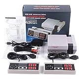 CZSMART Retro TV Spielekonsole,Classic Minispielkonsole Spielkonsolen für Kinder Integriertes 620-Spiel 8-Bit-Handheld-Spielekonsole mit doppelter Steuerung für TV-Videos