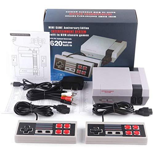 CZSMART Retro TV Spielekonsole,Classic Minispielkonsole Spielkonsolen für Kinder Integriertes 620-Spiel (einige Werden wiederholt) 8-Bit-Handheld-Spielekonsole mit doppelter Steuerung für TV-Videos
