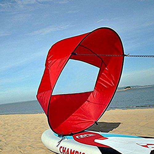 VGEBY Downwind Paddle,Kayak Wind Sail Paddle 42 pollici Kayak Canoa Accessori Compatto e Portatile ( Colore : Rosso )