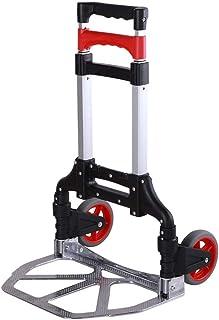 STC / Inicio turcks Capacidad 70 kg, Trolley Trolley Estructura de aleación de Aluminio, Carga portátil Trolley (Color: Rojo) (Color : Rojo)