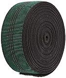 Pandoras Upholstery - Cincha para tapicería (8 m, elástica), Color Verde