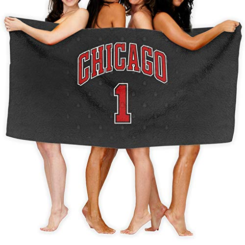 Derrick Rose Jersey Chicago Bulls #1 - Toalla de baño (secado rápido), color blanco o negro