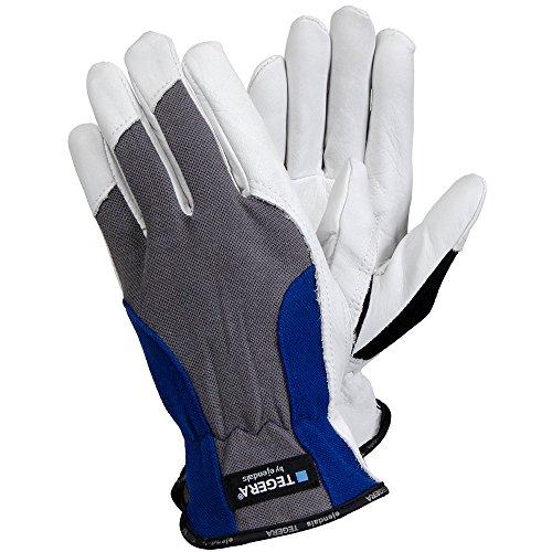 Ejendals Lederhandschuh Tegera 888, Größe 10, 1 Stück, grau / blau / schwarz / weiß, 888-10