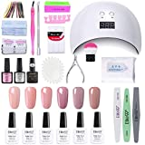 Elite99 Lámpara UV LED para Uñas 24w, 6 Colores Kit de Esmaltes Semipermanentes en Gel U...