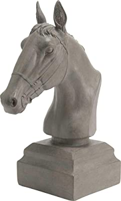 Amazon.com: Eurasia Real Wooden Colored Horse Statue Hand ...