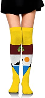Flag of Liberland Cotton Compression Socks for Women. Graduated Stockings for Nurses, Maternity, Travel, Flight, Pregnancy, Varicose Veins,Running & Fitness, Calf Support.