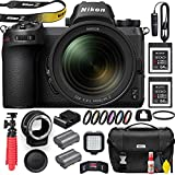Nikon Z6 Mirrorless Digital Camera with 24-70mm Lens (1598) with Nikon FTZ Lens Adapter, Nikon Bag, MC-DC2 Remote, 2 Sony 64GB XQD Cards, Filter Kit, UV Filter, Extra Battery, Light and More (Renewed)