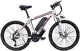 Bici electrica, 26 '' Electric bicicleta de montaña 48V 10Ah 350W extraíble de iones de litio de bicicletas Ebike de viaje for hombre de ciclo al aire libre de trabajo fuera y los desplazamientos