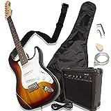 Guitarra eléctrica con amplificador Accesorios tipo Stratocaster (Café)