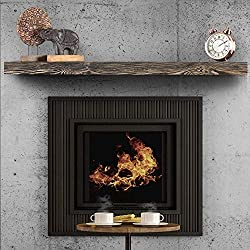 """top rated Rustic Style Floating Fireplace Shelf BoscoMondo–60 """"X 7"""" X 3 """"Solid Pine – Wall… 2021"""