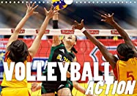 Volleyball Action (Wandkalender 2021 DIN A4 quer): Ob am Strand oder in der Halle Volleyball, das ist Action- das ist Action pur! (Monatskalender, 14 Seiten )
