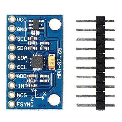 Paradisetronic com MPU–9250modulo, accelerometer, giroscopio 3assi e–magnetometer, 9DOF, I2C, SPI, ad esempio per Arduino, Genuino, Raspberry Pi