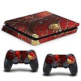 VINILOL Vinilo para playstation 4 PS4 Slim pegatina cubierta Spiderman skin para consola y 2 mandos. V1