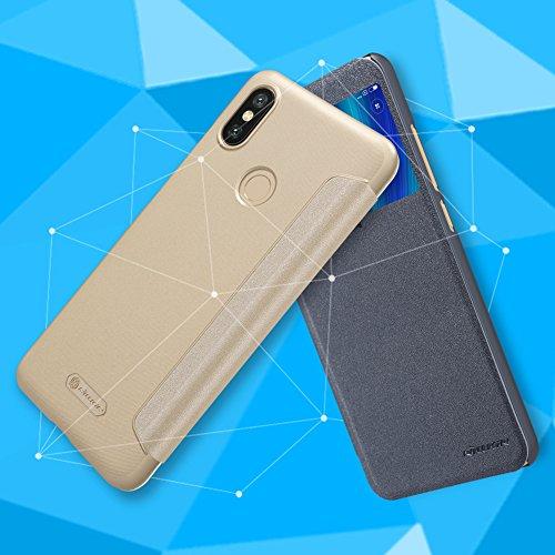 Nillkin Sparkle - Carcasa Tipo Funda Libro Protectora con Ventana Inteligente s-View para Xiaomi Mi 6X - Negra