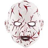 ZXPzZ-Masken Halloween Bloody Face Ghost Face Puppenmaske Latex Terror Mask Kopfbedeckung