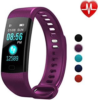 Autoday Fitness Tracker Waterproof Activity Tracker Calorie Counter,Pedometer,Heart Rate Monitor,Sleep Monitor,Reminder Replacement Strap Wristband Sports Band for iOS & Android