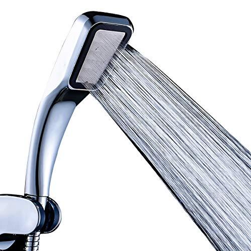 Ruspela - Soffione doccia potente con palmare, ad alta pressione, a 300 fori, risparmio idrico, per bagno di casa, hotel, bagno