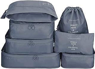 AMERTEER 8Pcs SET Travel Luggage Organizer Packing Cubes Set Storage Bag Waterproof Laundry Bag Traveling Accessories
