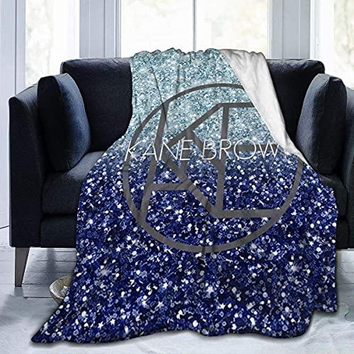 Manta de franela increíble Crazy Kane marrón cubre manta para cama, sofá, sala de estar, verano, grande 50 x 40 pulgadas
