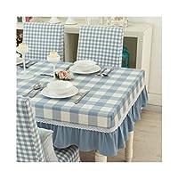 テーブルクロス 長方形の綿とリネンレーステーブルクロス、キッチン結婚式レストランパーティーピクニック屋内屋外使用、6サイズ (Size : 130*80cm)