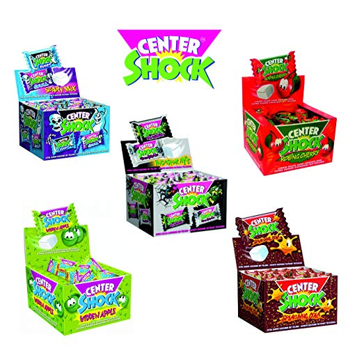 Set 5er Mix Center Shock Kaugummi (Cola, Cherry, Apfel, Mystery, Scary Mix 5 x 100 Stück)