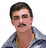 Forum Novelties Men's Theatrical Disguise 60's Mustache, Gray, One Size