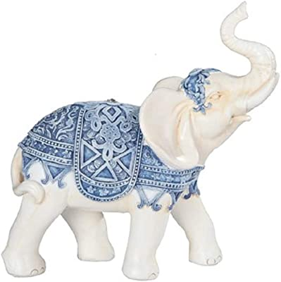"""George S. Chen Imports Thai Elephant, Silver 6 1/2"""" high Statue Figurine (7888052)"""