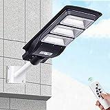 SZ&LAM Lumière Solaire De Réverbère De 90W LED, Lampe De Synchronisation De Mur De Capteur De Mouvement De PIR + À...