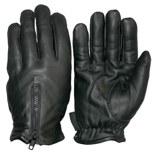 Hot Leathers GVM1008 Fleece Lined Leather Gloves (Black, X-Large)