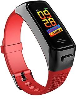 YZY Pulsera Actividad, Pulsera Inteligente con Auriculares Bluetooth 2 en 1 y Monitor de presión Arterial Reloj de podómetro for Hombres Mujer