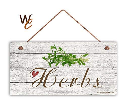 BridgetWhy50 Herbs Sign, Garden Sign, Rustic Decor, Herb On Distressed Wood, 5' X 10' Sign, House Gift, Gift For Gardener,