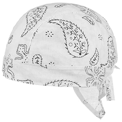 Lipodo Classic Pattern Kinderbandana - Bandana Kinder - 51-55 cm - Kopftuch aus Baumwolle Frühjahr/Sommer - Sommerbandana weiß One Size