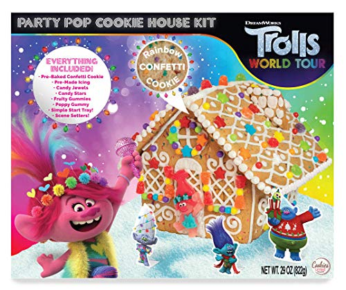 World Tour Trolls Holiday House Gingerbread Cookie Kit - 29 oz (1 PACK)