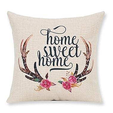 Lyn Cotton Linen Square Throw Pillow Case Decorative Cushion Cover Pillowcase for Sofa 18  X 18   Lyn-32 (3)
