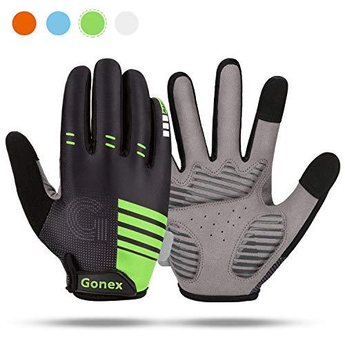 Gonex Fahrradhandschuhe Herren Damen MTB Handschuhe mit stoßabsorbierendem Polster Rutschfestes Touchscreen Vollfinger Radsporthandschuhe für Radsport Mountainbike Road Race Wandern