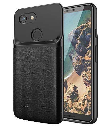 NEWDERY Google Pixel 3 Battery Case, 4700mAh Slim Extended Charger Case with TPU Raised Bezels, Rechargeable Charging Case Cover Compatible Google Pixel 3 (Not for Pixel 3A)